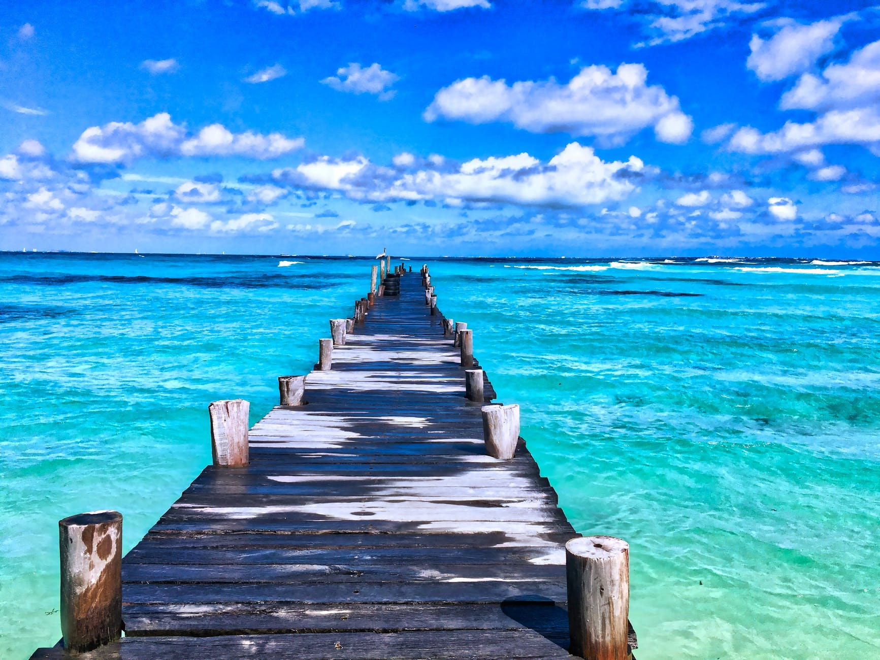 beach beautiful bridge carribean